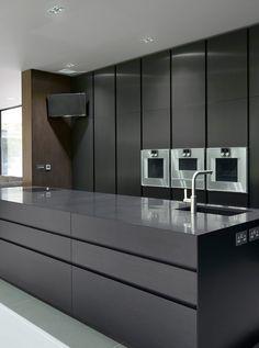 All black kitchen design