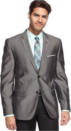 Alfani RED Sport Coat Grey Texture Slim Fit on shopstyle.com