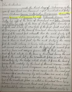 Debby's Family Genealogy Blog: A Land Record With a Twist-Daniel and Jemima Benja...