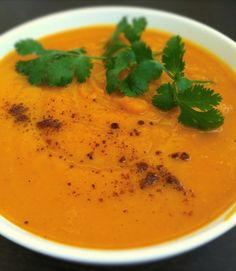 I love sweet potatoes. For one, they cook a lot faster than regular potatoes (I'm impatient!) and they have so much more natural flavor that you rarely have to modify them. However, the root works especially well with certain flavors, such as curry and maple. Stay warm with this fall soup. It is sweet and spicy and quick to make.