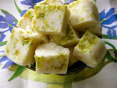Triple Zest Citrus Coconut Fudge Mcknelly Mcknelly Jacobs's Kitchen with coconut butter, coconut oil, honey, lemon juice and zest, and flaked coconut Healthy Eating Recipes, Vegan Snacks, Raw Food Recipes, Sweet Recipes, Cooking Recipes, Healthy Fats, Raw Desserts, Paleo Dessert, Healthy Sweets