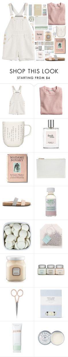 """Day #55 Pale Sadness"" by funsizedhooligan ❤ liked on Polyvore featuring Moschino, H&M, iittala, philosophy, Whistles, Loeffler Randall, Mario Badescu Skin Care, Prada, Laura Mercier and Anastasia Beverly Hills"