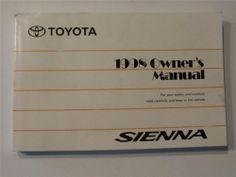 1998 dodge dakota pickup owners manual book owners manuals rh pinterest com toyota sienna owners manual 2018 toyota sienna owners manual 2014
