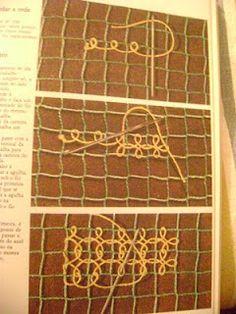 Renda Filé. Brazilian lace.