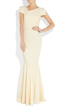 Going the other direction completely.  --    Roland Mouret - A minimalist wedding dress