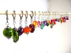 How to repurpose old necklaces into stitch markers for #crochet and #knitting by Sheila Z.