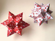 DIY kit Papieren kerststerren. Printbare DIY Kerstdecoratie. Eenvoudig te maken Kerststerren download