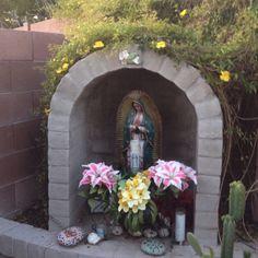 My garden's spiritual center