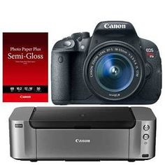 Buy Canon EOS T5i DSLR Camera 18-55mm Lens Printer Bundle  $350 MIR