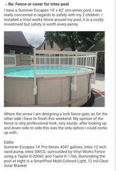 Intex Pool Fence safety fence added to intex ultra frame with a little tweaking