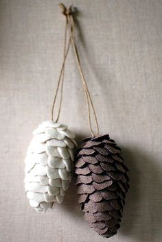 Pinecones with twine for the door wreath