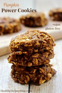 Pumpkin Power Cookies [vegan + gluten-free] • Healthy Helper