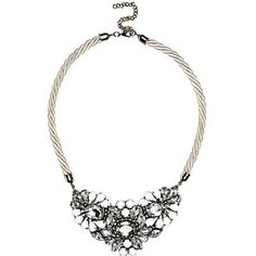 White rope statement necklace $24.00