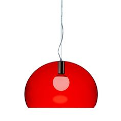 Discover the Kartell FL/Y Ceiling Light - Red at Amara