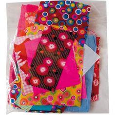 Tissu Petit Pan - Mini-coupons de tissu  Chaque pochette comprend une vingtaine de coupons en coton, de tailles et d'imprimés différents. Les assortiments varient également. - 5,00€