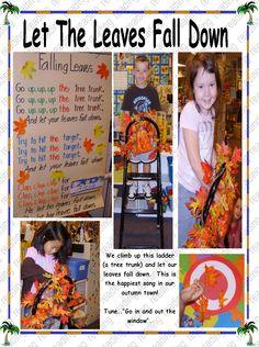 Try a leaf ladder in K Letter F, Fall Is Here, Falling Down, Fall Harvest, Autumn Leaves, Ladder, Kindergarten, Preschool, November