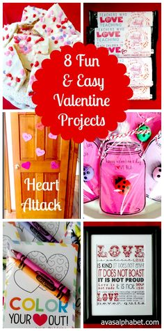 Need some valentine inspiration? Here are 8 Fun & Easy Valentine Projects.
