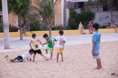 #DitoEscolinha #children playing #beachsoccer on the #beach #PraiadeIracema in #Fortaleza # Brazil