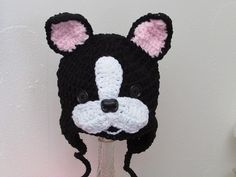 Hey, I found this really awesome Etsy listing at https://www.etsy.com/listing/157489735/boston-terrier-baby-hat