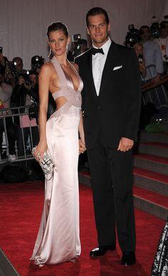Gisele Bündchen et Tom Brady au gala du MET Costume Institute 2008