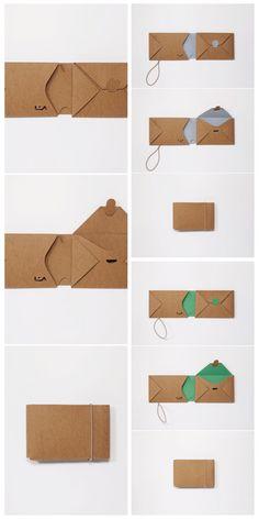 Wir haben eine Kollektion kleinformatiger Geldbörsen kreiert, die von der traditionellen japanischen Origami-Technik inspiriert sind und einzeln von Hand aus einem Stück strapazierfähigem veganem Leder gefaltet wurden. Ihr idealer Begleiter für Reisen, Wandern, Sport, Alltag! Wallet | purse | cardcase cardholder | Vegan mini Origami slim lightweight  purse portmonnee Origami Wallet, Diy Wallet, Origami Design, Leather Bag Tutorial, Mint Bag, Paper Art, Paper Crafts, Origami And Quilling, Jute Fabric
