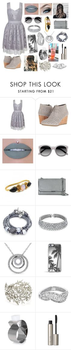 """""""City Strolling"""" by sofiagarcia-27 ❤ liked on Polyvore featuring Miss Selfridge, TOMS, Ultimate, LeiVanKash, STELLA McCARTNEY, Lizzy James, Bling Jewelry, Miadora, Oscar de la Renta and Dsquared2"""