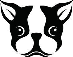 A Stencil Of A Boston Terrier Dog