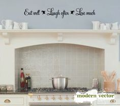 kitchen wall quotes - Google Search