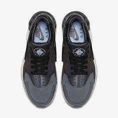 new york de08a 9ba25 Chaussure Nike Air Huarache Pas Cher Femme et Homme Premium Gris Fonce Noir  Platine Pur Noir