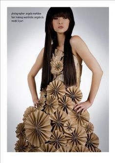 Paper rosette #art dress