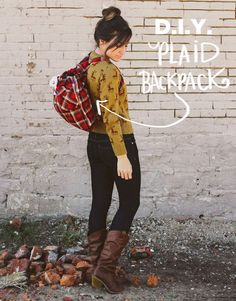 DIY: plaid backpack
