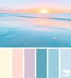 Heavenly Hues by Design Seeds. Pastel color palette that is perfect for the beginning of Spring. Color Palette For Home, Blue Palette, Colour Pallette, Color Palate, Beach Color Palettes, Sunset Color Palette, Pastel Colour Palette, Spring Color Palette, Sunset Colors