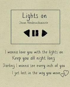 shawn mendes - lights on // lyrics