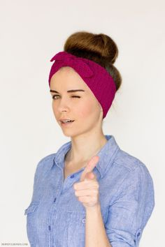 Try this retro-inspired crochet headband by Hopeful Honey in your favorite color of Cotton-Ease.