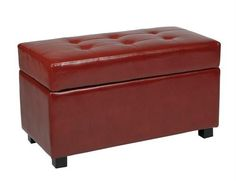 MET804RD - Storage Ottoman_Chest - Crimson Red Faux Leather. MET804RD - Storage Ottoman_Chest - Crimson Red Faux Leather Product Specifications Dimensions 16 D x 32 W x 18 H (inches) Storage Ottoman_Chest Functional accessory piece that compliments most any home decor Finished in Cri.. . See More Ottoman at http://www.ourgreatshop.com/Ottoman-C672.aspx