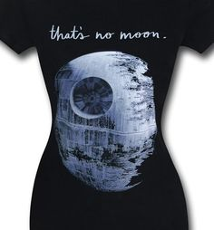 #StarWars merch on sale as well as the launching of our #StarWarsTheForceAwakens site! http://www.superherostuff.com/star-wars/t-shirts/star-wars-thats-no-moon-womens-t-shirt.html?itemcd=tsswnomoonwmn