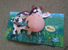 Inna Chernyak on Behance Book Crafts, Paper Crafts, Cow Craft, Art For Kids, Crafts For Kids, Pop Up Art, Sunday School Crafts, Handmade Books, Bookbinding
