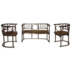 Good Chapter 20 Vienna Secession: Austrian Settee U0026 Chairs In Leather By Joseph  Hoffman