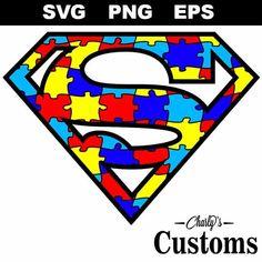 SuperMan Autism Logo Svg,SuperMan Autism Logo Cricut,SuperMan Autism Logo Design,SuperMan Autism Logo Cameo,SuperMan Autism Logo Cut-File by CharlysCustoms on Etsy
