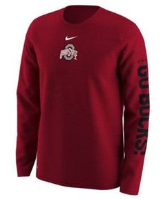 Accentuate any casual outfit or game-day attire with the Nike NCAA Wordmark  T-shirt. The officially licensed crew neck tee features the Ohio State …