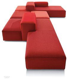 Cool Modular and Convertible Sofa Design for Small Living Room 81 Small Living Rooms, Living Room Sofa, Living Room Decor, Soft Seating, Lounge Seating, Outdoor Lounge, Lounge Sofa, Modular Furniture, Sofa Furniture