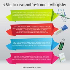 Take simple 4 steps with Glister to take care your oral care.