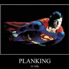 Superman planking