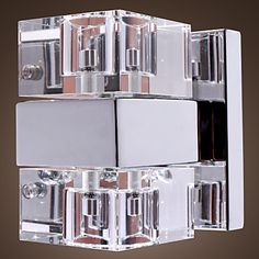 Contemporary LED Wall Light in Crystal – LightSuperDeal.com