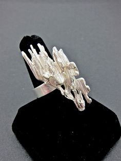 Broom Cast - bold sterling silver cocktail ring by aatelierandrea on Etsy, $75.00