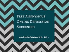 National Depression Screening Week/Day