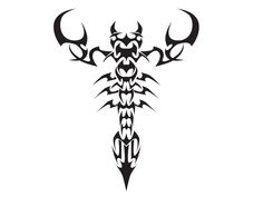 Tribal Scorpion Tattoo | Scorpion tribal tattoo design 375