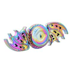 Rainbow Fidget Spinner Dragon Eyes Metal Spinner Anti Stress Tri Spinner Toys For Autism