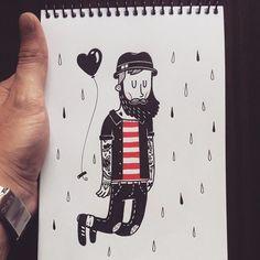 Pablo Contreras. -- Sin los pies en la tierra  #drawing #dibujo #illustration #ilustracion #tattoo #tatuaje #draw #ink #love #art #arte #black #illustrator #ilustrador