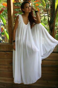 Bridal Nightgown Wedding Lingerie Full Swing White Nylon Waiting in the  Shadows of Moonlight Honeymoon Romance Nightgown 3e779bf1c